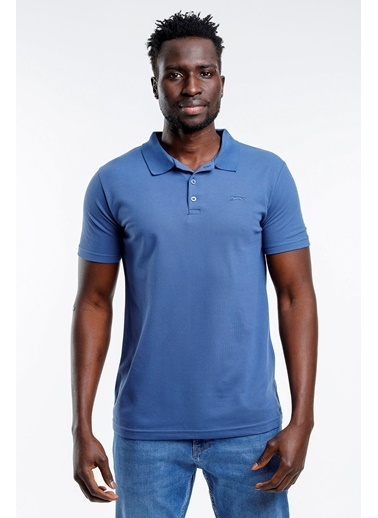 Slazenger Slazenger SOHO Erkek T-Shirt Hardal İndigo